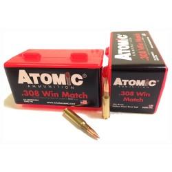 ATOMIC AMMO .308 WINCHESTER MATCH 168GR. NOSLER BTHP 50-PACK
