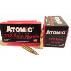 ATOMIC AMMO .223 REMINGTON MATCH 77GR. SIERRA BTHP 50-PACK