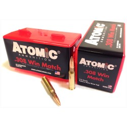 ATOMIC AMMO .308 WINCHESTER MATCH 175GR. SIERRA TMK 50-PACK