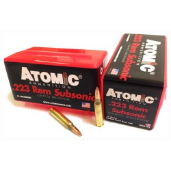 ATOMIC AMMO .223 REMINGTON  SUBSONIC 77GR. NOSLER BTHP 50-PACK