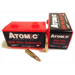 ATOMIC AMMO .308 WINCHESTER SUBSONIC 175GR. SIERRA BTHP 50-PACK