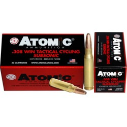 ATOMIC AMMO .308 WINCHESTER SUBSONIC 260GR. ROUND NOSE SP 50-PACK