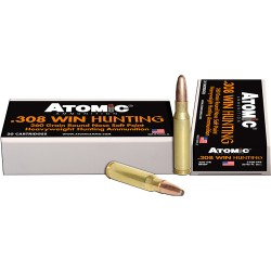 ATOMIC AMMO .308 WINCHESTER 260GR. ROUNDNOSE SOFTPOINT 20-PACK
