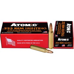 ATOMIC AMMO .223 REM. 112GR. ROUNDNOSE SOFTPOINT 20-PACK