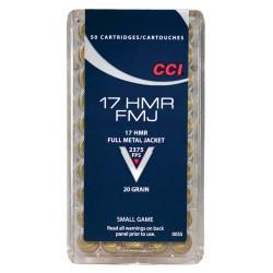 CCI AMMO .17HMR 2375FPS. 20GR. FMJ 50-PACK