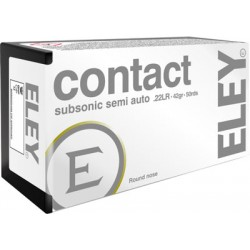 ELEY CONTACT 22LR SUBSONIC 42GR. ROUND NOSE 50-PACK