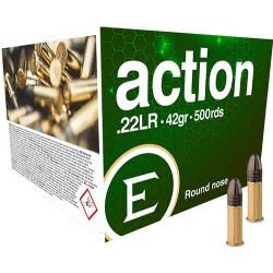 ELEY AMMO ACTION .22LR 42GR. ROUND NOSE 500-PACK