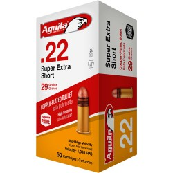 AGUILA AMMO .22 SHORT CASE LOT 29GR. LEAD RN 1000RD CASE