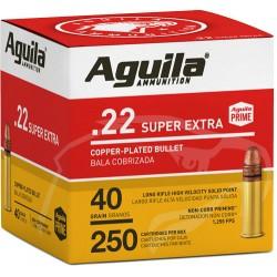 AGUILA AMMO .22LR HIGH VEL. 1255FPS. 40GR. LEAD RN 250-PK