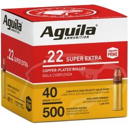 AGUILA AMMO .22LR HIGH VEL. 1255FPS. 40GR. LEAD RN 500-PK