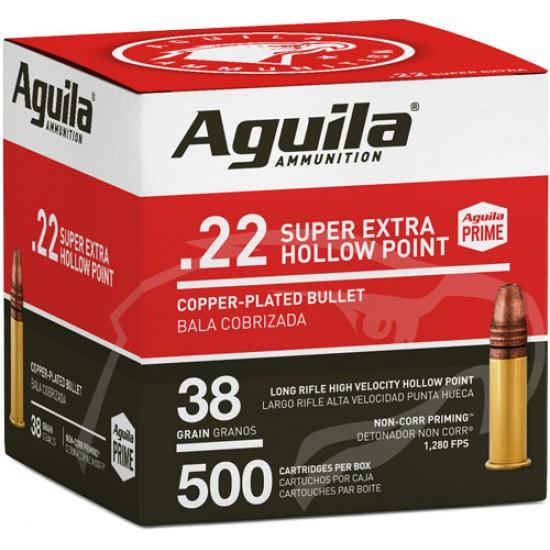 AGUILA AMMO .22LR HIGH VEL. 1280FPS. 38GR. LEAD HP 500-PK