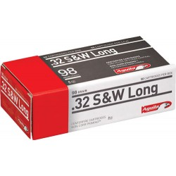 AGUILA AMMO .32SWL 98GR. LEAD RN 50-PACK