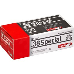AGUILA AMMO .38 SPECIAL 130GR. FMJ-RN 50-PACK