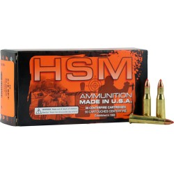HSM AMMO .218 BEE 35GR. V-MAX 50-PACK