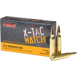 PMC AMMO .223 REMINGTON 77GR. OTM SIERRA BULLET 20-PACK