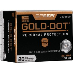 SPEER AMMO GOLD DOT .357 MAGNUM 158GR. GDHP 20-PACK