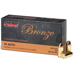 PMC AMMO .32ACP 60GR. JHP 50-PACK