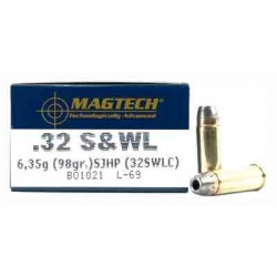 MAGTECH AMMO .32SMITH & WESSON LONG 98GR. SEMI JHP 50-PACK
