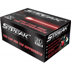 AMMO INC .40 SMITH & WESSON 180GR. JHP STREAK RED 20-PACK
