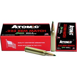 ATOMIC AMMO .223 REMINGTON MATCH 77GR. SIERRA TMK 20-PACK