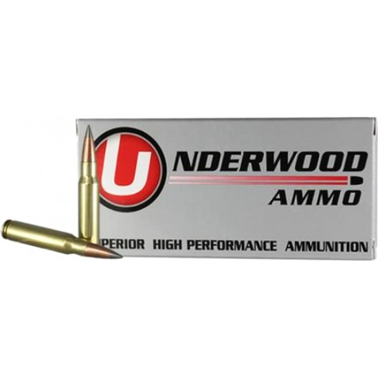 UNDERWOOD AMMO .308 WIN 144GR. MATCH SOLID FLASH TIP 20-PACK