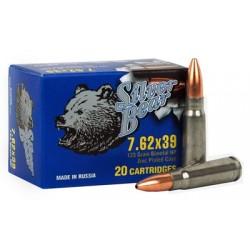 SILVER BEAR 7.62 X 39 123GR JHP ZINC-PLATED 500 ROUND CASE
