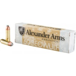 ALEXANDER AMMO .50 BEOWULF 400GR. FLAT POINT 20-PACK