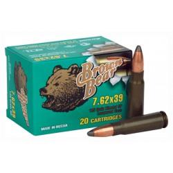 BROWN BEAR 7.62 X 39 125GR. SP 500RD CASE