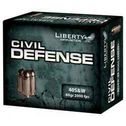 LIBERTY AMMO CIVIL DEFENSE .40 SMITH & WESSON 60GR HP 20-PACK