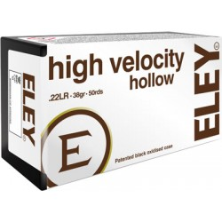 ELEY HIGH VELOCITY HOLLOW POINT 22LR 38GR. 50 PACK