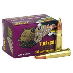GOLDEN BEAR 7.62 X 39 123GR. FULL METAL JACKET 500RD. CASE