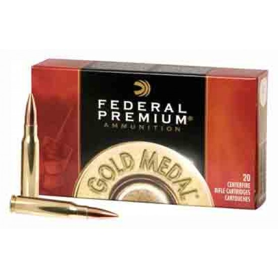 FEDERAL AMMO GOLD MEDAL .30-06 168GR. SIERRA MATCHKING 20-PK