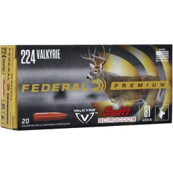FED AMMO .224 VALKYRIE 81GR. SCIROCCO II  20-PACK