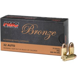 PMC AMMO .32ACP 71GR. FMJ 50-PACK