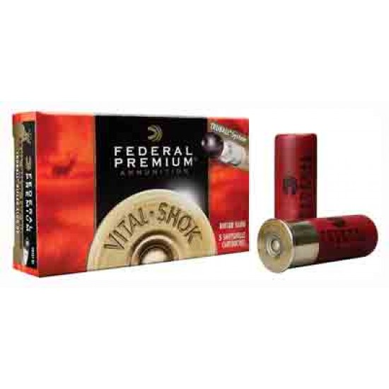 "FEDERAL AMMO PREMIUM TRUBALL SLUG 12GA 2.75"" 1300FPS. 1OZ. 5PK"