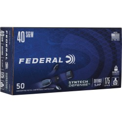 FED AMMO .40SW 175GR. SYNTHETIC DEFENSE SJHP 50-PACK