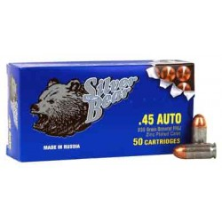 SILVER BEAR .45ACP 230GR FMJ ZINC PLATED STEEL CASE 50-PACK