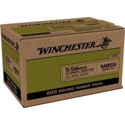 WIN AMMO USA 5.56X45 CASE LOT 62GR. GREEN TIP 200RD BOX