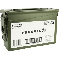 FED AMMO AE TACTICAL 5.56X45 55GR. FMJ-BT 400RD AMMO CAN