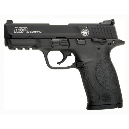 """SMITH & WESSON M&P22 COMPACT .22LR 3.56"""" AS 10 SHOT W/SAFETY MATTE BLACK"""
