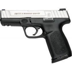 "S&W SD9VE 9MM 4"" FS 10-SHOT SILVER SS SLIDE/BLACK POLY."