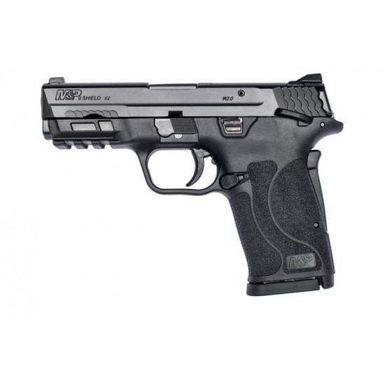 SMITH & WESSON SHIELD M2.0 M&P 9MM EZ BLACKENED SS/BLK THUMB SAFETY