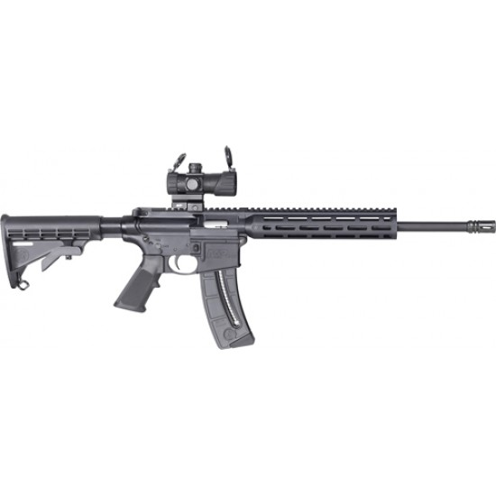 """SMITH & WESSON M&P15-22 SPORT OR .22LR 16.5"""" MP100 RED/GRN DOT 25-RD"""