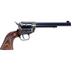 """HERITAGE .22/.22 WMR COMBO 6.5"""" BLUED/C.COLORED LAMINATE GRIPS"""