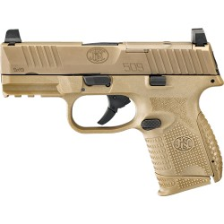FN 509 COMPACT MRD 9MM LUGER 1-12RD 1-15RD FDE