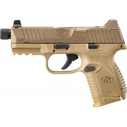 FN 509 COMPACT TACTICAL 9MM 3-10RD NS FDE/FDE
