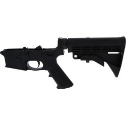 ANDERSON COMPLETE AR-15 LOWER RECEIVER 5.56 BLACK CLOSED