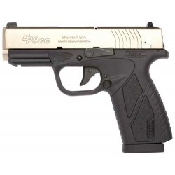 BERSA BP CC 9MM FS8 SH SILVER SLIDE/BLACK FRAME