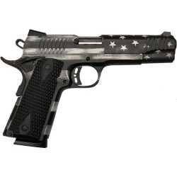 CITADEL M1911 GOVERNMENT 9MM CERAKOT USA FLAG GRAY SCALE