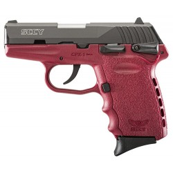 SCCY CPX1-CB PISTOL DAO 9MM 10RD BLACK/CRIMSON SAFETY